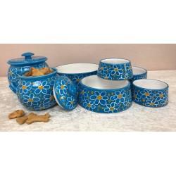 """Keramik - Hundenapf """"Blaue..."""