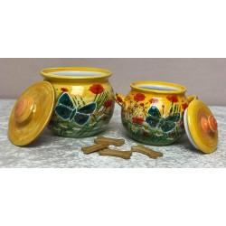 Keramik- Keksdose mit...
