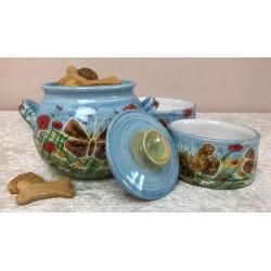 Keramik-Keksdose mit Deckel...
