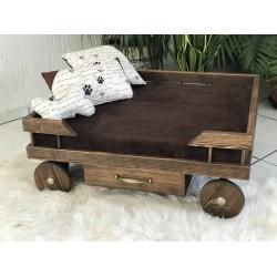 Hunde Holzbett Wagen (...