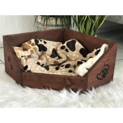 Hunde Holzbett - Eckbett 40...
