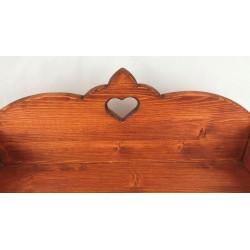 Romantisches Hunde Holzbett