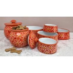 "Keramik - Hundenapf ""Orange..."