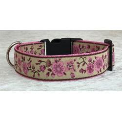 "Hundehalsband ""Rosa Blumen"""