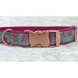 Hundehalsband - Rosa/Blau...
